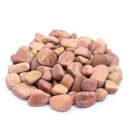 Natural Teak Pebbles (Peach Color, Medium, Polished) - 1 kg - Nurserylive