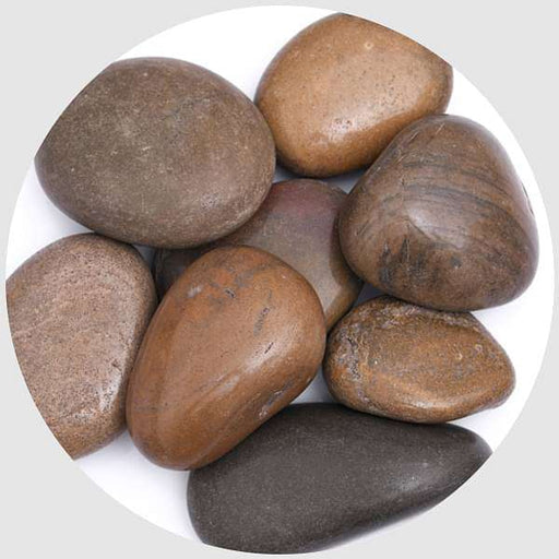 River Pebbles (Brown, Big, Polished) - 2 kg - Nurserylive