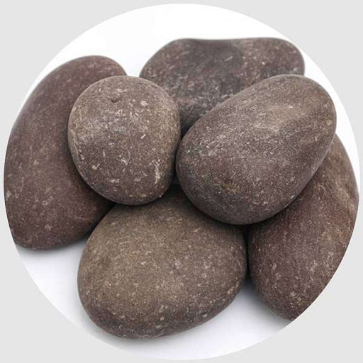 River Pebbles (Brown, Big, Unpolished) - 2 kg - Nurserylive