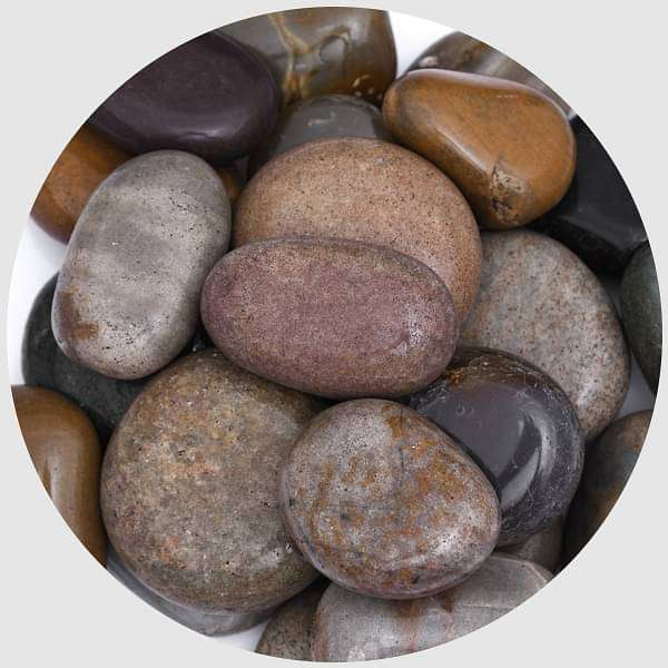 River Pebbles (Navrang, Big, Polished) - 2 kg - Nurserylive