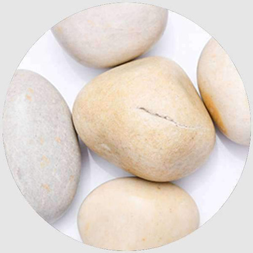 River Pebbles (White, Big, Polished) - 2 kg - Nurserylive