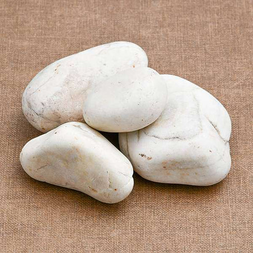 River Pebbles (White, Big, Unpolished) - 2 kg - Nurserylive