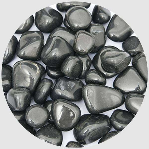 Super Granite Pebbles (Black, Medium, Polished) - 1 kg - Nurserylive