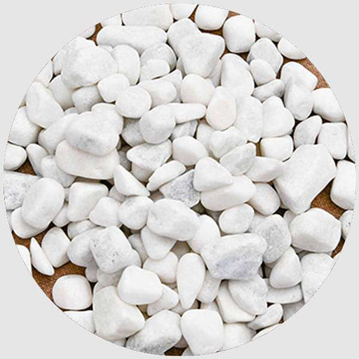 Super Marble Pebbles (White, Medium, Unpolished) - 1 kg - Nurserylive