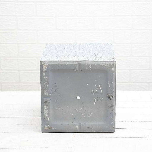 10 inch (25 cm) OTH-12 Stone Finish Square Fiberglass Planter (Grey) - Nurserylive