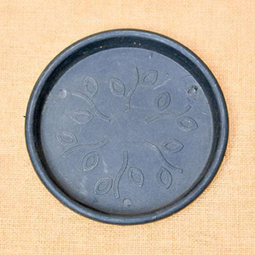 11.2 inch (28 cm) Round Plastic Plate for 12 inch (30 cm) Grower Pots (Black) (set of 3) - Nurserylive