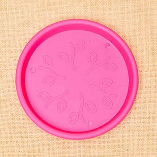 11.2 inch (28 cm) Round Plastic Plate for 12 inch (30 cm) Grower Pots (Dark Pink) (set of 3) - Nurserylive