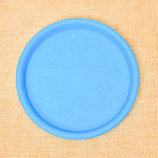 11.2 inch (28 cm) Round Plastic Plate for 12 inch (30 cm) Grower Pots (Sky Blue) (set of 3)