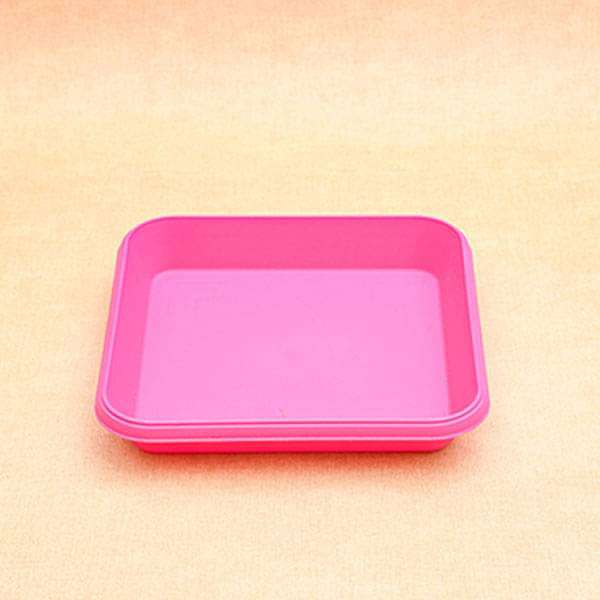 11.7 inch (30 cm) Square Plastic Plate for 14 inch (36 cm) Bello Square Pot (Dark Pink) (set of 3) - Nurserylive