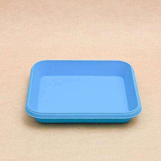 11.7 inch (30 cm) Square Plastic Plate for 14 inch (36 cm) Bello Square Pot (Sky Blue) (set of 3) - Nurserylive