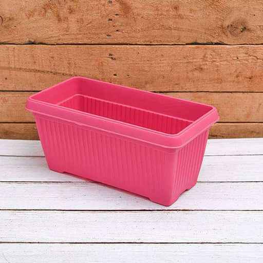11.8 inch (30 cm) Bello Window Planter No. 30 Rectangle Plastic Pot (Dark Pink) (set of 6) - Nurserylive