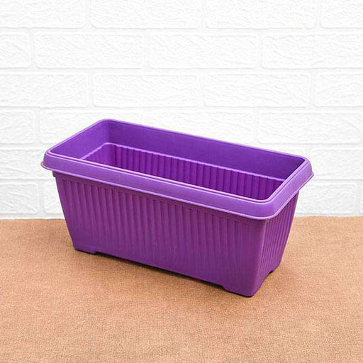 11.8 inch (30 cm) Bello Window Planter No. 30 Rectangle Plastic Pot (Violet) (set of 6) - Nurserylive
