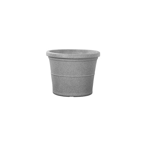 11.8 inch (30 cm) Duro No. 30 Stone Finish Round Rotomoulded Plastic Planter (Grey) - Nurserylive