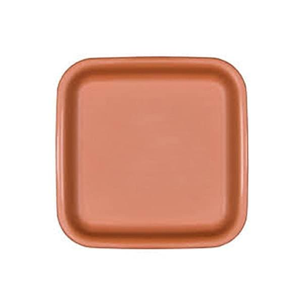 12.8 inch (33 cm) Square Plastic Plate for 14 inch (36 cm) Square No.14  Planter (Terracotta Color) - Nurserylive