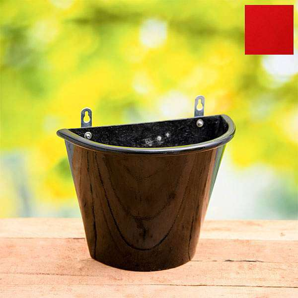 12 inch (30 cm) SML-009 Wall Mounted D Shaped Fiberglass Planter (Red) - Nurserylive