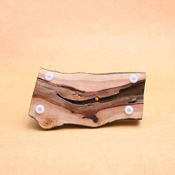 13 inch (33 cm) Oval Handmade Wooden Pot (Brown)