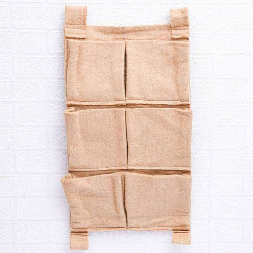 13 inch (33 cm) Vertical Garden Rectangle Jute Grow Bag (Brown) (set of 2) - Nurserylive