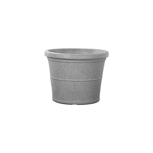 15.7 inch (40 cm) Duro No. 40 Stone Finish Round Rotomoulded Plastic Planter (Grey) - Nurserylive