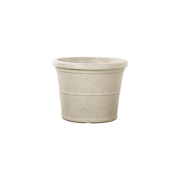 15.7 inch (40 cm) Duro No. 40 Stone Finish Round Rotomoulded Plastic Planter (Sand Color) - Nurserylive