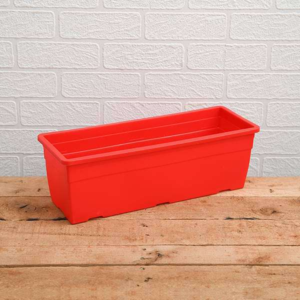 15.7 inch (40 cm)  Reca No. 40 Rectangle Plastic Planter (Red) (set of 3) - Nurserylive
