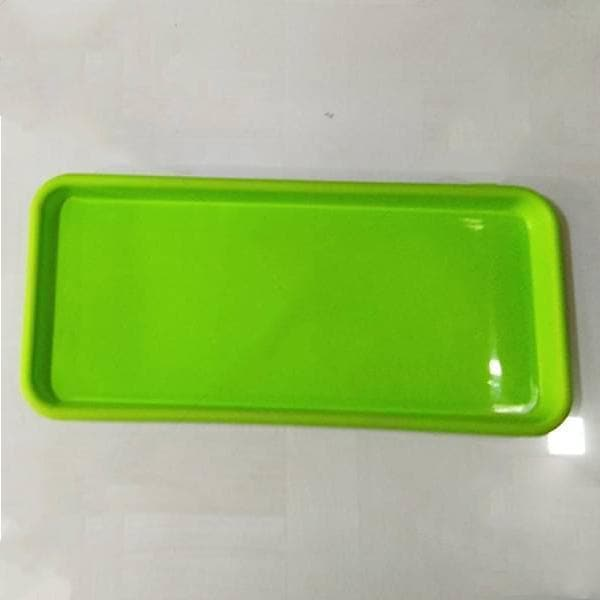 16.9 inch (43 cm) Rectangular Plastic Plate for 17.7 inch (45 cm) Small Window Pot  (Green) (set of 3) - Nurserylive