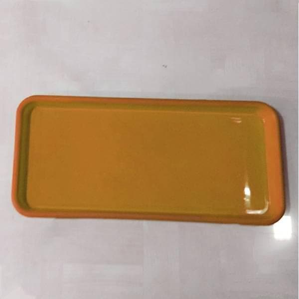 16.9 inch (43 cm) Rectangular Plastic Plate for 17.7 inch (45 cm) Small Window Pot (Terracotta Color) (set of 3) - Nurserylive