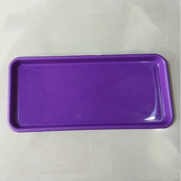 16.9 inch (43 cm) Rectangular Plastic Plate for 17.7 inch (45 cm) Small Window Pot  (Violet) (set of 3) - Nurserylive