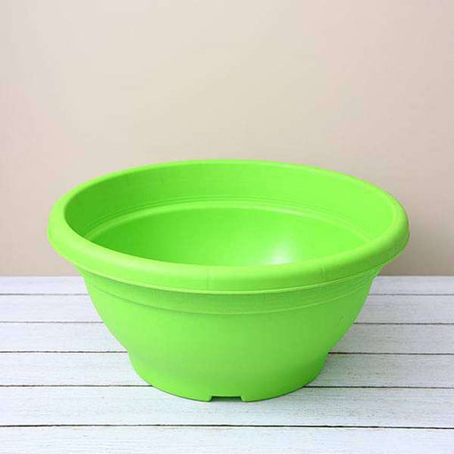 17.7 inch (45 cm) Bowl No. 45 Round Plastic Pot (Green) (set of 3) - Nurserylive