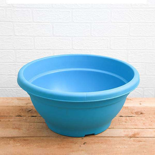 17.7 inch (45 cm) Bowl No. 45 Round Plastic Pot (Sky Blue) (set of 3) - Nurserylive