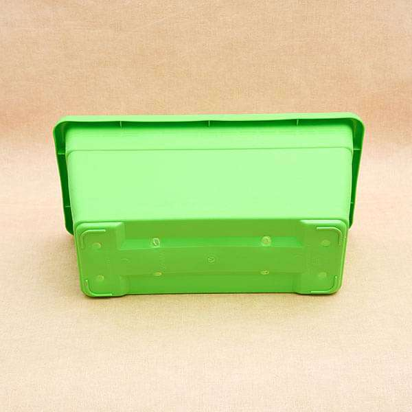 17.7 inch (45 cm) Small Window Rectangle Plastic Pot (Green) (set of 3) - Nurserylive