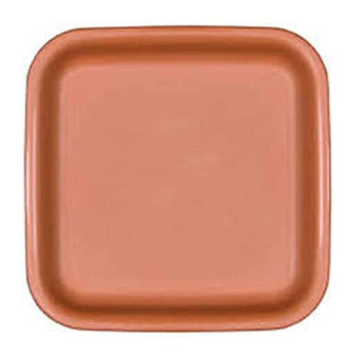 18.9 inch (48 cm) Square Plastic Plate for 20.1 inch (51 cm) Square No.20  Planter (Terracotta Color) - Nurserylive