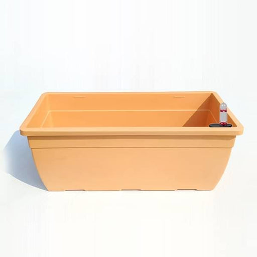 19.6 inch (50 cm) Reca No. 50 Self Watering Rectangle Plastic Planter (Camel Color) - Nurserylive