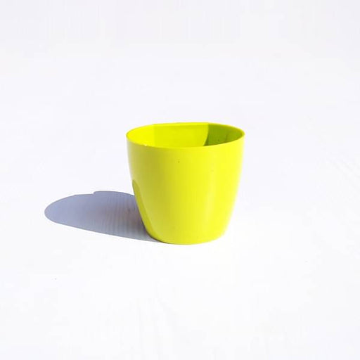 2.4 inch (6 cm) Magnet Round Plastic Planter (Lime Yellow) - Nurserylive