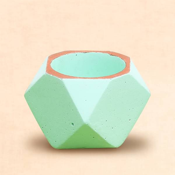 2.4 inch (6 cm) Octave Concrete Pot (Pista Green) (set of 3) - Nurserylive