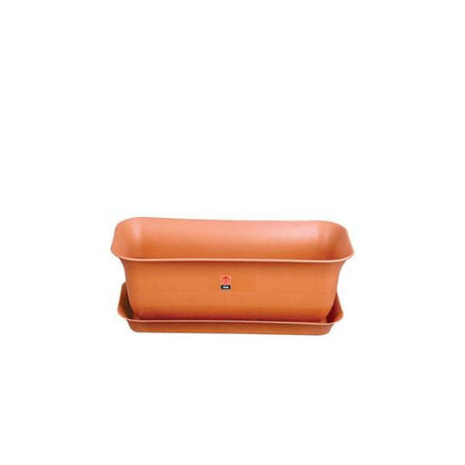 20.2 inch (51 cm) Window Garden No.3 Rectangle Plastic Planter  (Terracotta Color) (set of 3) - Nurserylive