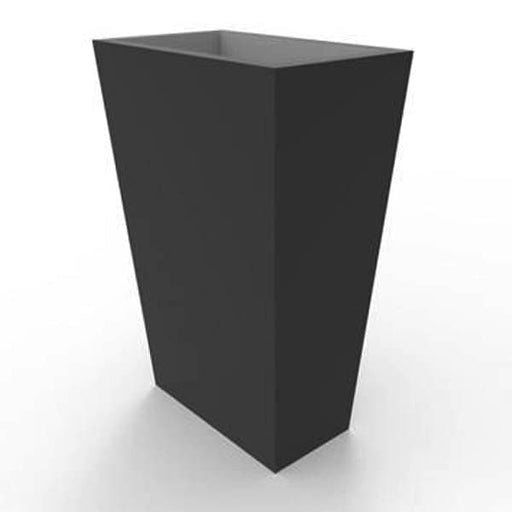 20inch (51 cm) SG No. R007 Rectangle fiber planter (Black) - Nurserylive