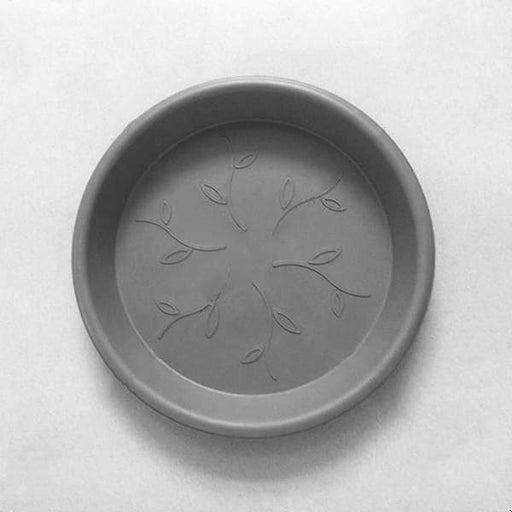 21.9 inch (56 cm) Round Plastic Plate for 23.2 inch (59 cm) Duro No. 60 Planter (Grey) - Nurserylive