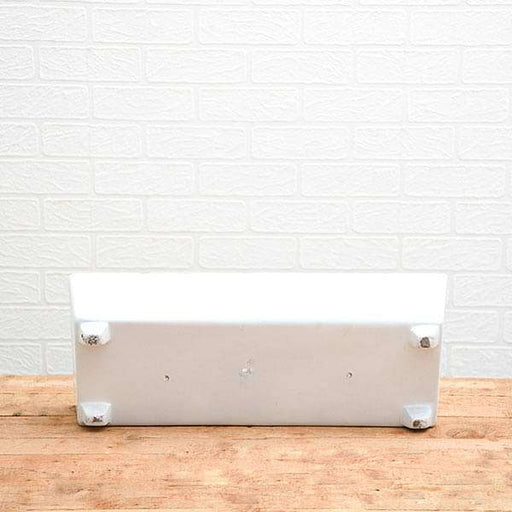 21 inch (53 cm) SML-005 Rectangle Fiberglass Planter (White) - Nurserylive