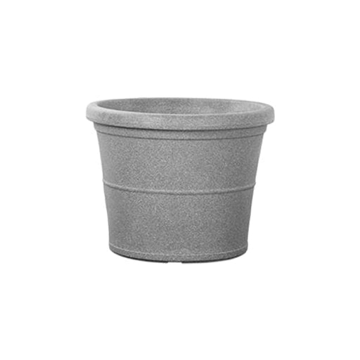 23.2 inch (59 cm) Duro No. 60 Stone Finish Round Rotomoulded Plastic Planter (Grey) - Nurserylive