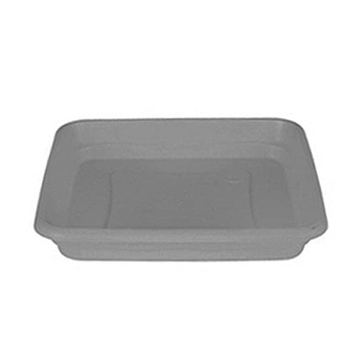 23.6 inch (60 cm) (60 cm) Square Plastic Plate for 23.6 inch Cubo No. 60 Planter (Grey) - Nurserylive