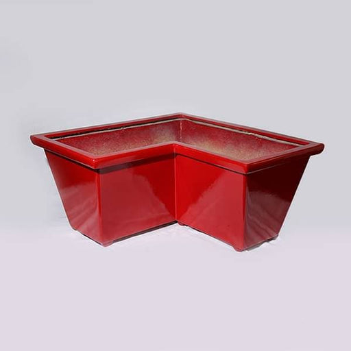 25 inch (64 cm) OTH-2 L shaped Fiberglass Planter  (Red) - Nurserylive