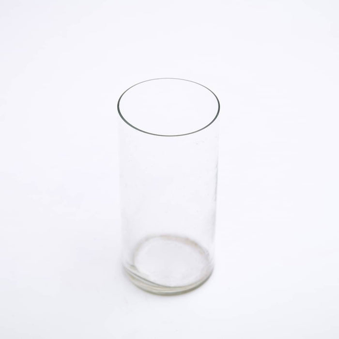3 inch (8 cm) Cylindrical Glass Vase (6 inch (15 cm) Height) - Nurserylive