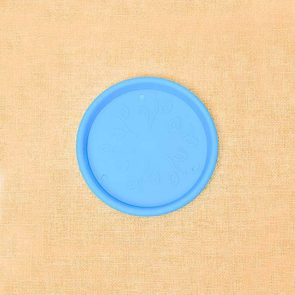 3 inch (8 cm) Round Plastic Plate for 3 inch (8 cm) Grower Pots  (Sky Blue) (set of 6)