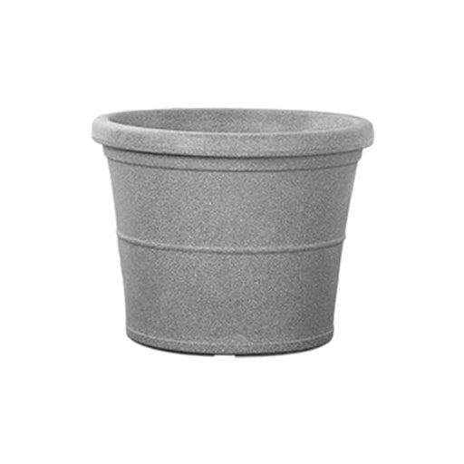 30.7 inch (78 cm) Duro No. 80 Stone Finish Round Rotomoulded Plastic Planter (Grey) - Nurserylive