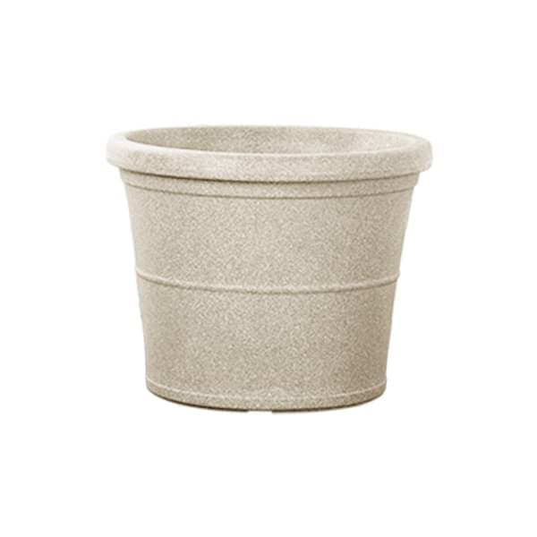 30.7 inch (78 cm) Duro No. 80 Stone Finish Round Rotomoulded Plastic Planter (Sand Color) - Nurserylive