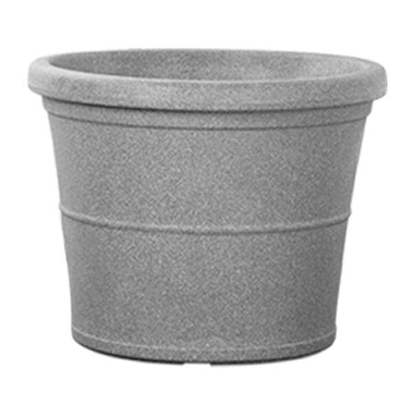 38.6 inch (98 cm) Duro No. 100 Stone Finish Round Rotomoulded Plastic Planter (Grey) - Nurserylive