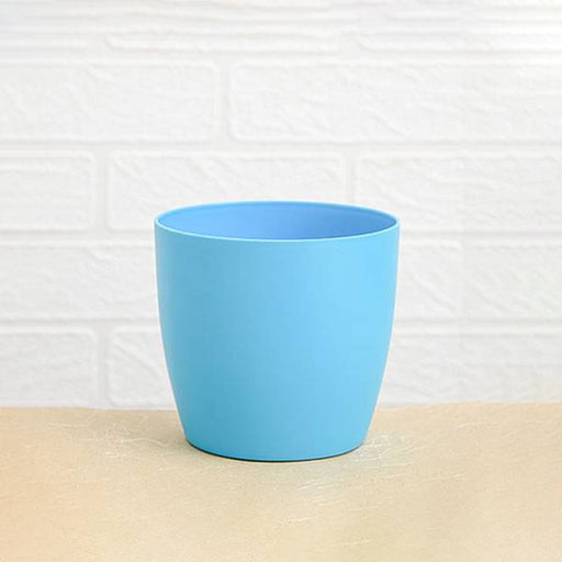 4.5 inch (11 cm) Ronda No. 1110 Round Plastic Planter (Turquoise) (set of 6) - Nurserylive