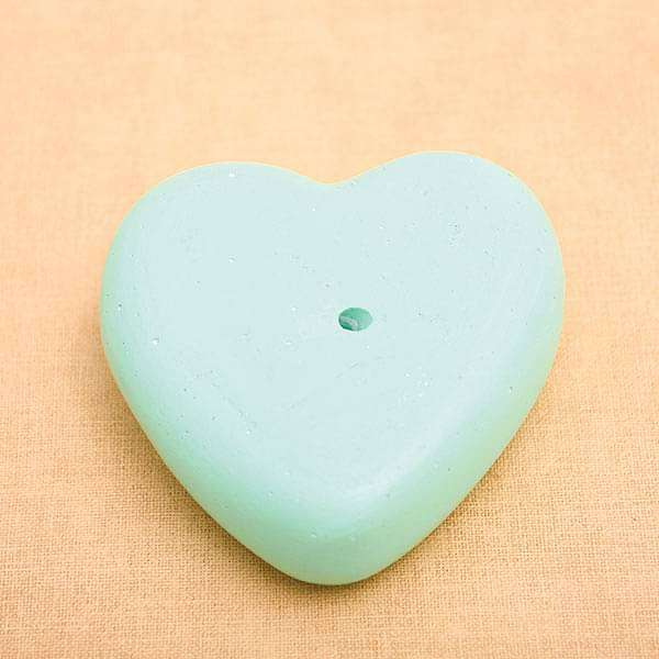 4.7 inch (12 cm) Heart Shape Concrete Pot (Pista Green) - Nurserylive