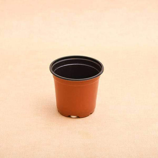 4 inch (10 cm) Round Thermoform Pot  (Terracotta Color) (set of 20) - Nurserylive