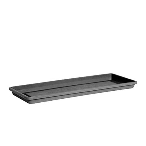 40.5 inch (103 cm) Rectangle Plastic Plate for 39.8 inch (101 cm) Flora No. 100 Planter (Grey) - Nurserylive
